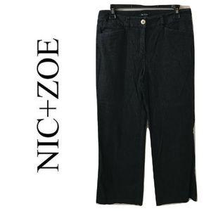 Nic Zoe 8 Trouser Jeans Dark Blue Rinse Flare